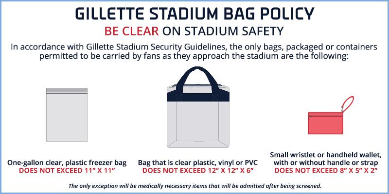 b665c813d5 Bag Policy - Gillette Stadium