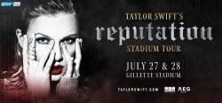 Taylor Swift's reputation Stadium Tour @ Gillette Stadium