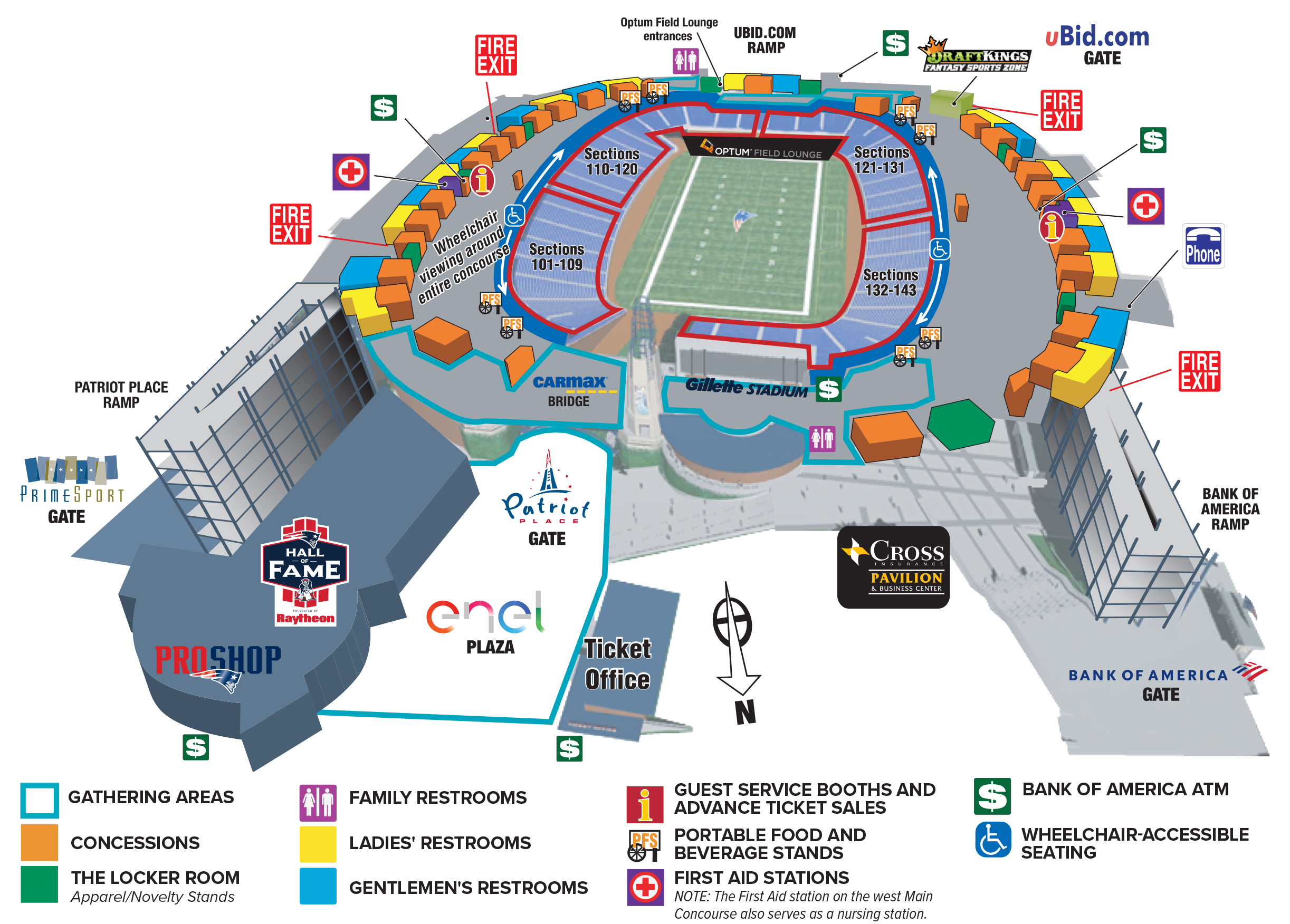 Seating Charts & Maps - Gillette Stadium