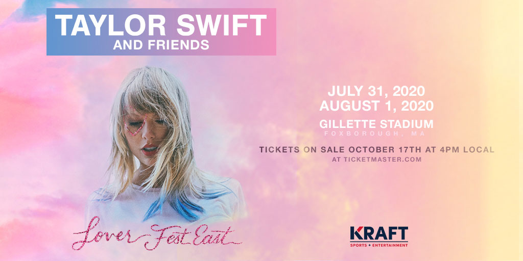 Postponed Taylor Swift Lover Fest East Gillette Stadium
