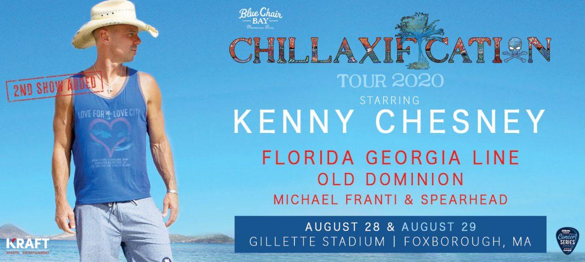 Kenny Chesney 2020 Tour.Kenny Chesney Chillaxification Tour Gillette Stadium