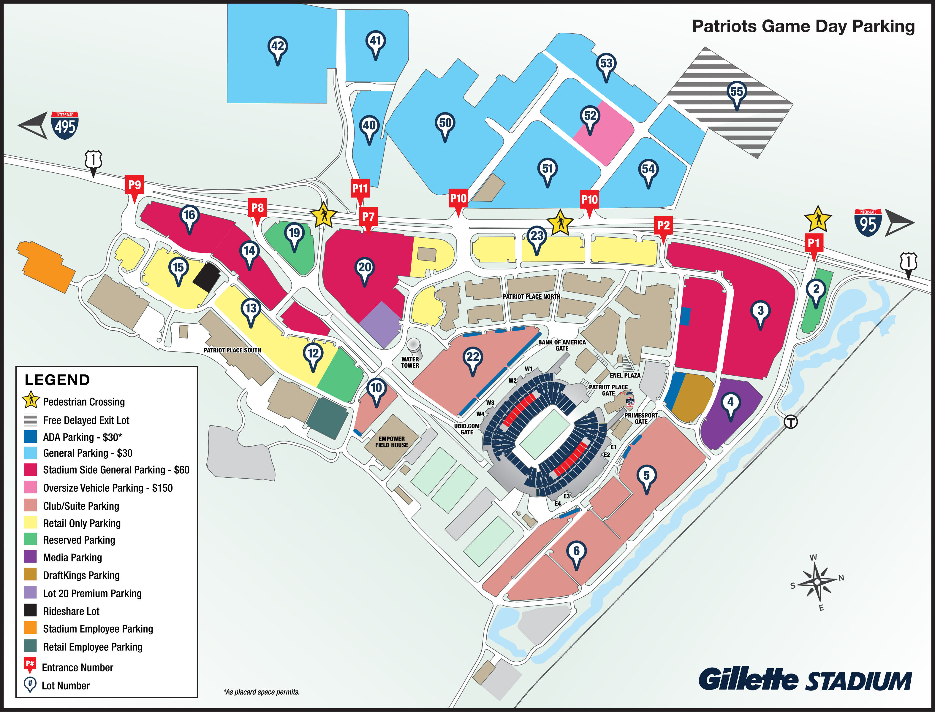 Patriots Parking Map - Gillette Stadium on wyoming county numbers, restaurant numbers, bus route numbers, time zone numbers, film numbers, container numbers, blog numbers, flag numbers,