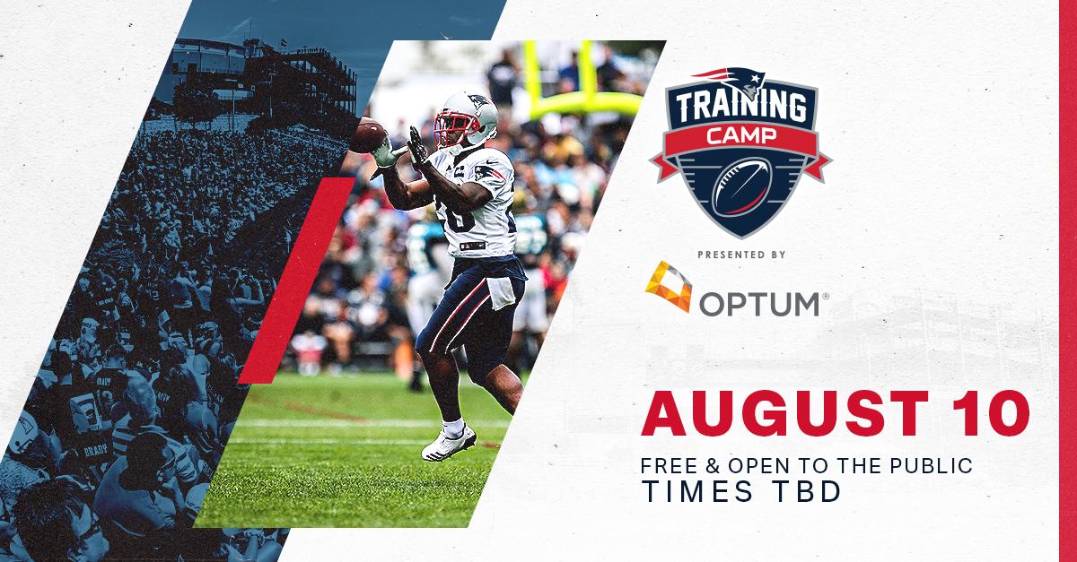 Patriots In-Stadium Training Camp Practice presented by Optum @ Gillette Stadium