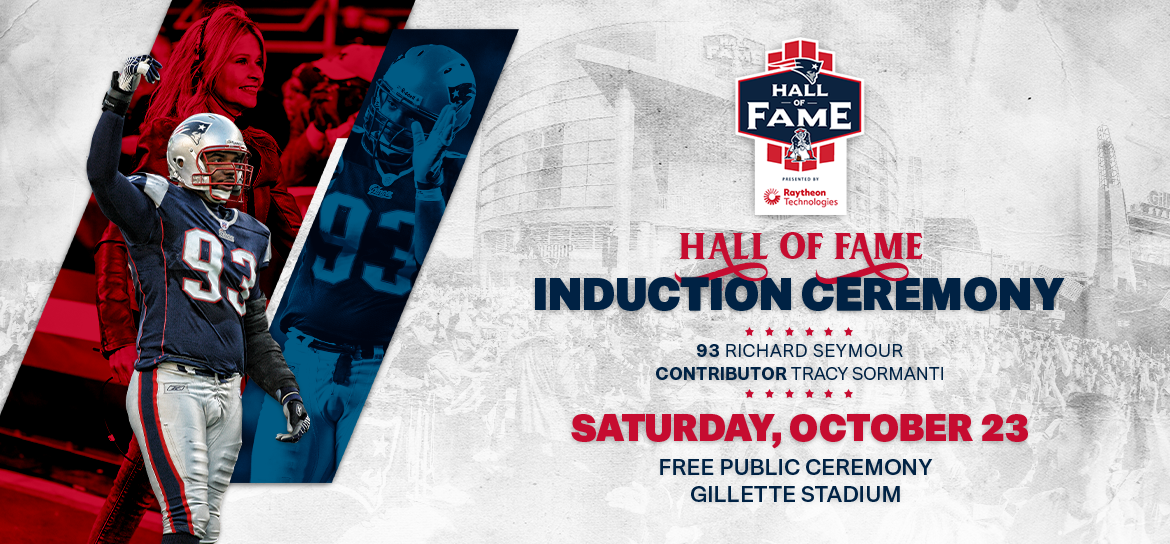 Patriots 2021 Hall Of Fame Induction Ceremony @ Gillette Stadium
